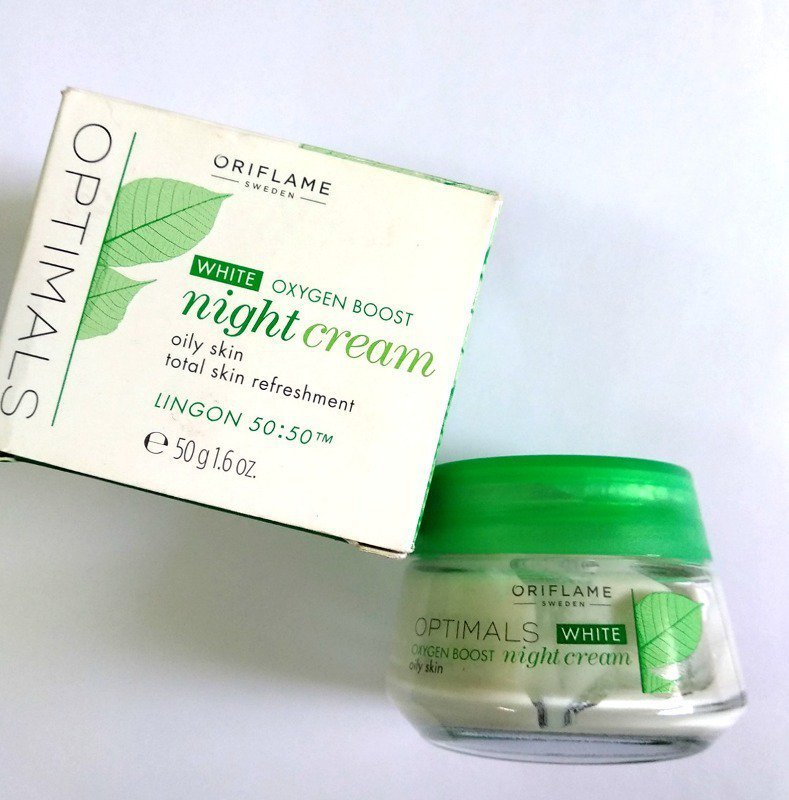 Oriflame Optimals White Oxygen Boost Night Cream   3