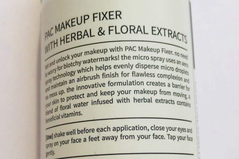 Pac Micro Finish Makeup Fixer  4