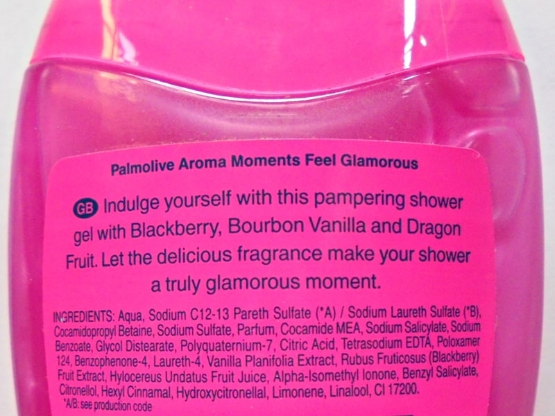 Palmolive Aroma Moments Feel Glamorous Pampering Shower Gel Review 1