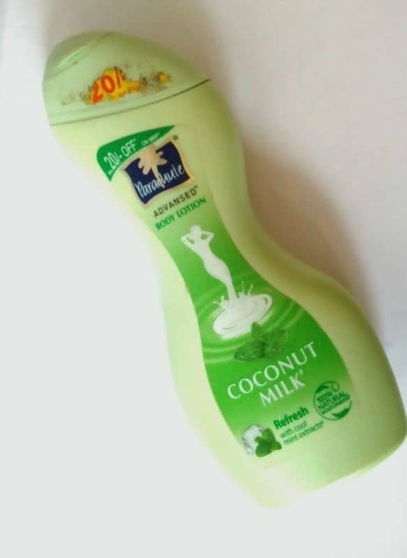 Parachute Advansed Coconut Milk Refresh Body Lotion With Cool Mint Extracts Review