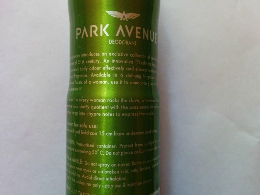 Park Avenue Diva Women Deo Review 3