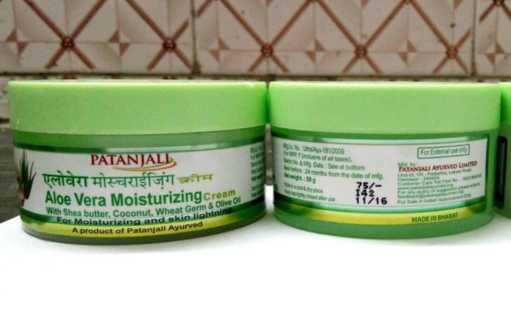 Patanjali Aloevera Moisturizing Cream