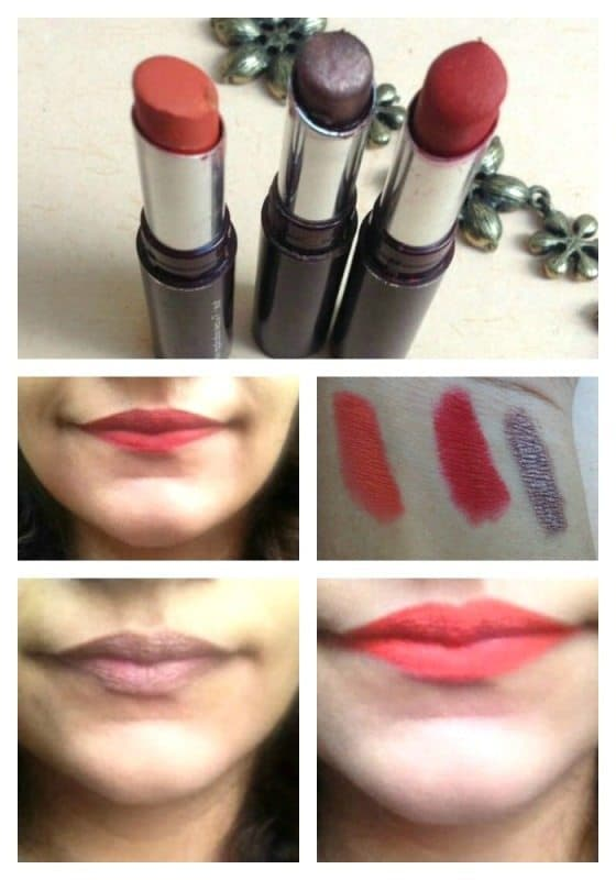 Incolor Long Lasting Matte Lipstick Pure Red, Incolor Citrine and Incolor Copper