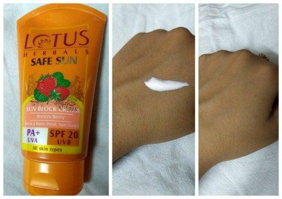 Lotus Safe Sun Block Cream SPF 20