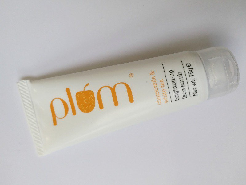 Plum Chamomile and White Tea Brighten- Up Face Scrub Review 1