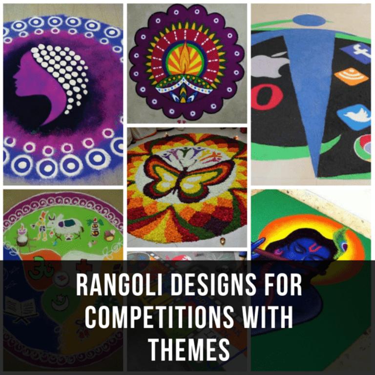 Prize Winning Rangoli Designs with Themes
