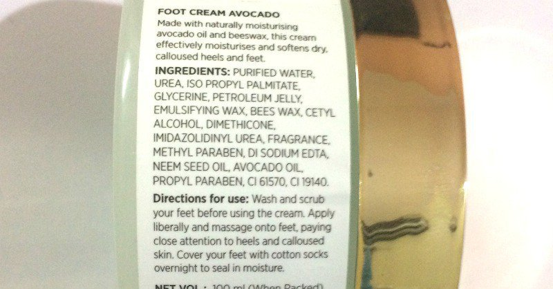Fabindia Avocado Foot Cream 2