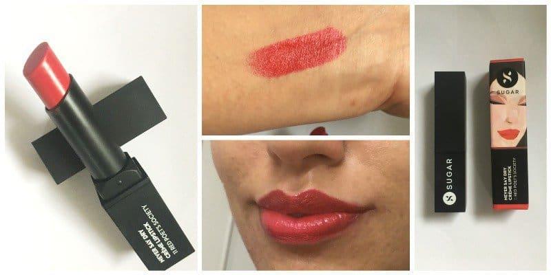 SUGAR Never Say Dry Crème Lipstick Red Poet's Society