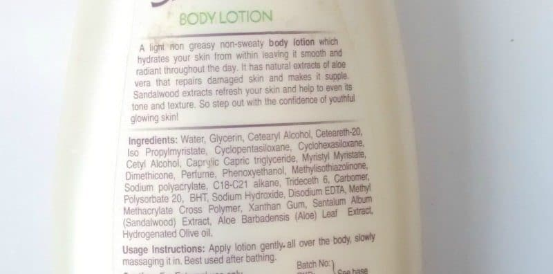 Santoor Body Lotion With Sandalwood And Aloe Vera Extracts Review 1