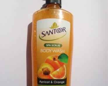 Santoor Spa Scrub Body Wash Apricot and Orange 1