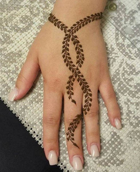 What are some really Easy Mehendi Designs for Girls? 4
