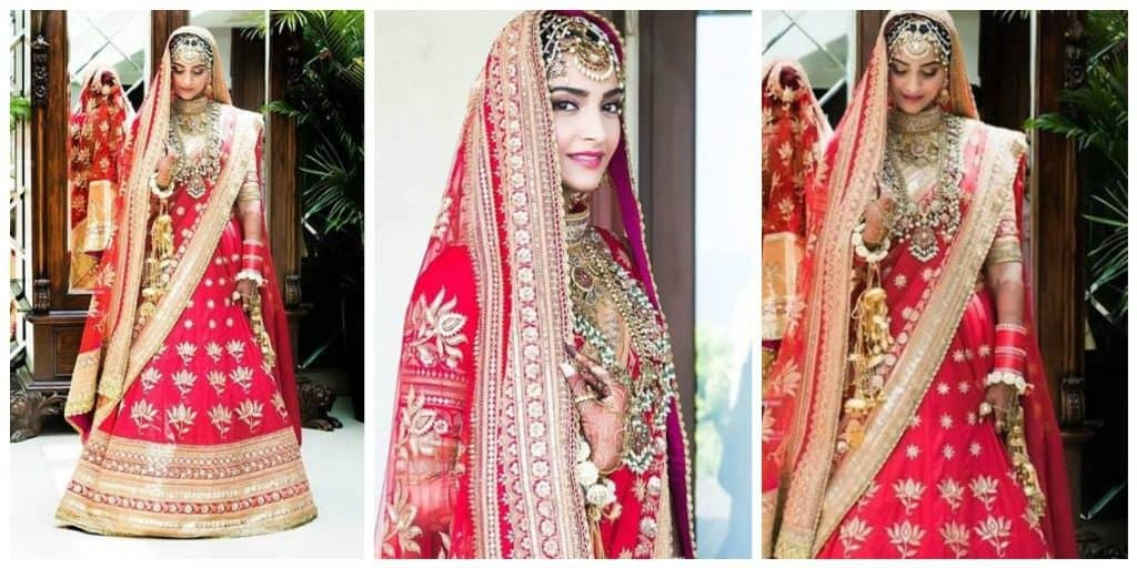 Sonam Kapoor's Wedding Outfit 1