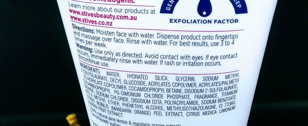St Ives Even and Bright Pink Lemon and Mandarin Orange Facial Scrub Review 2