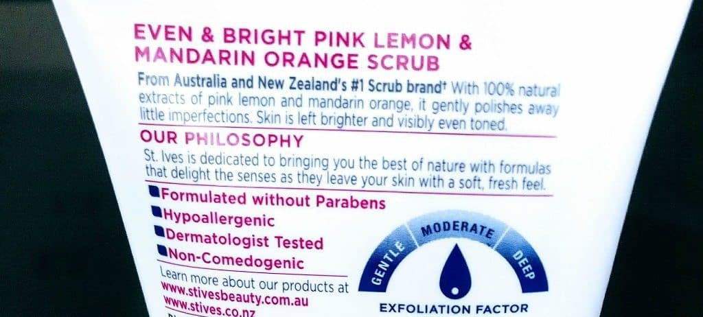 St Ives Even and Bright Pink Lemon and Mandarin Orange Facial Scrub Review 3