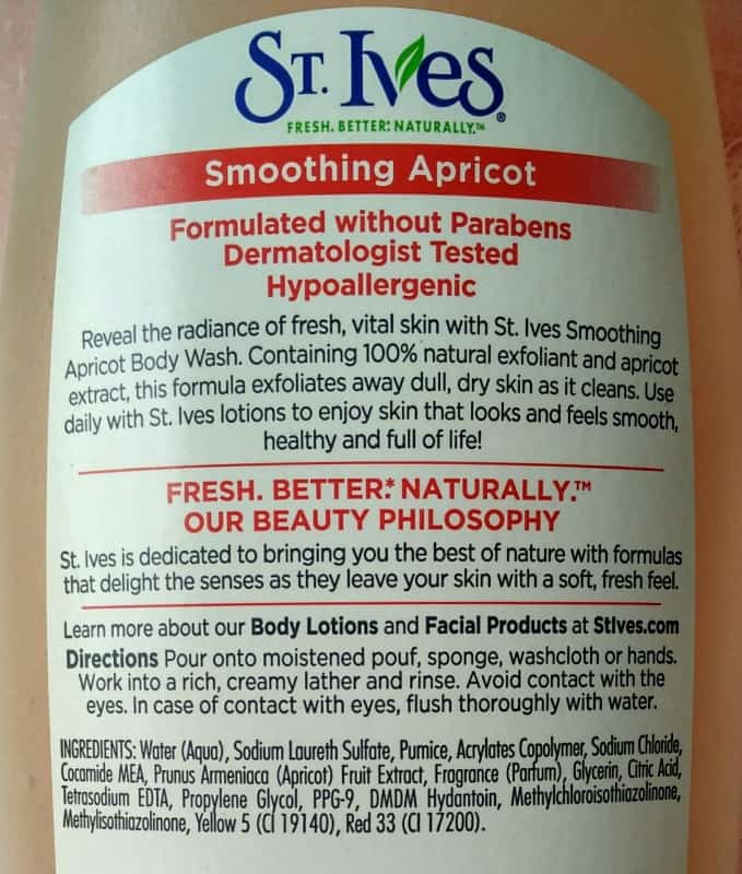 St Ives Exfoliating Body Wash Smoothing Apricot 1