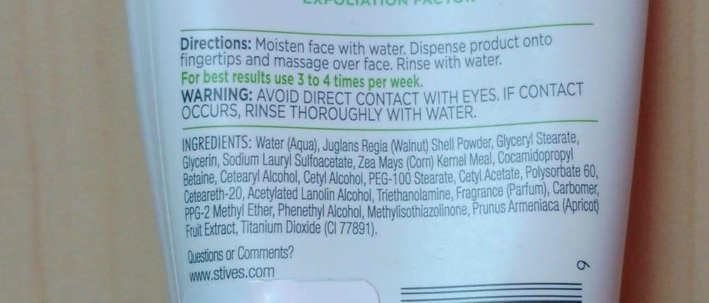 St.Ives Fresh Skin Apricot Scrub Review 2