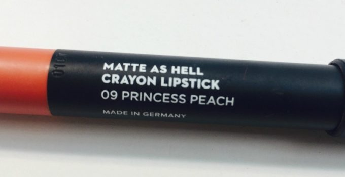 Sugar Princess Peach Matte As Hell Crayon Lipstick 3