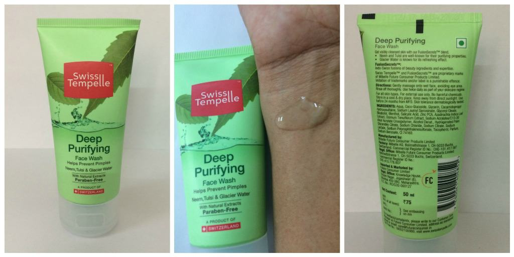 Swiss Tempelle Deep Purifying Face Wash