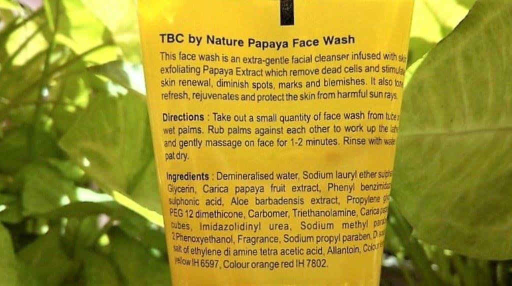 TBC By Nature Papaya Face Wash Review 3
