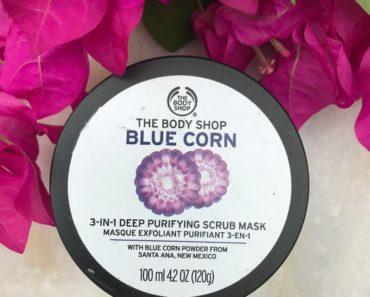 The Body Shop Blue Corn 3 In 1 Deep Purifying Scrub Mask