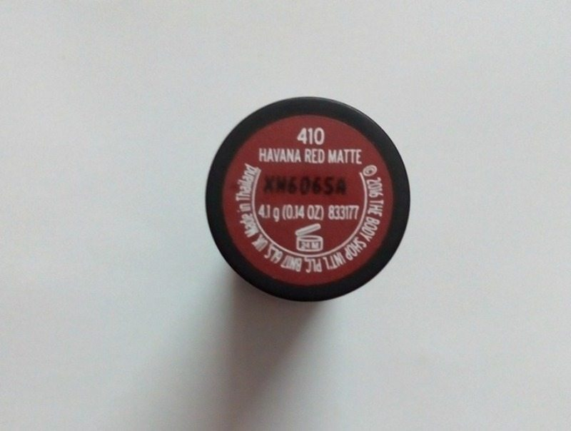 The Body Shop Havanna Red Matte Lipstick (410) 5