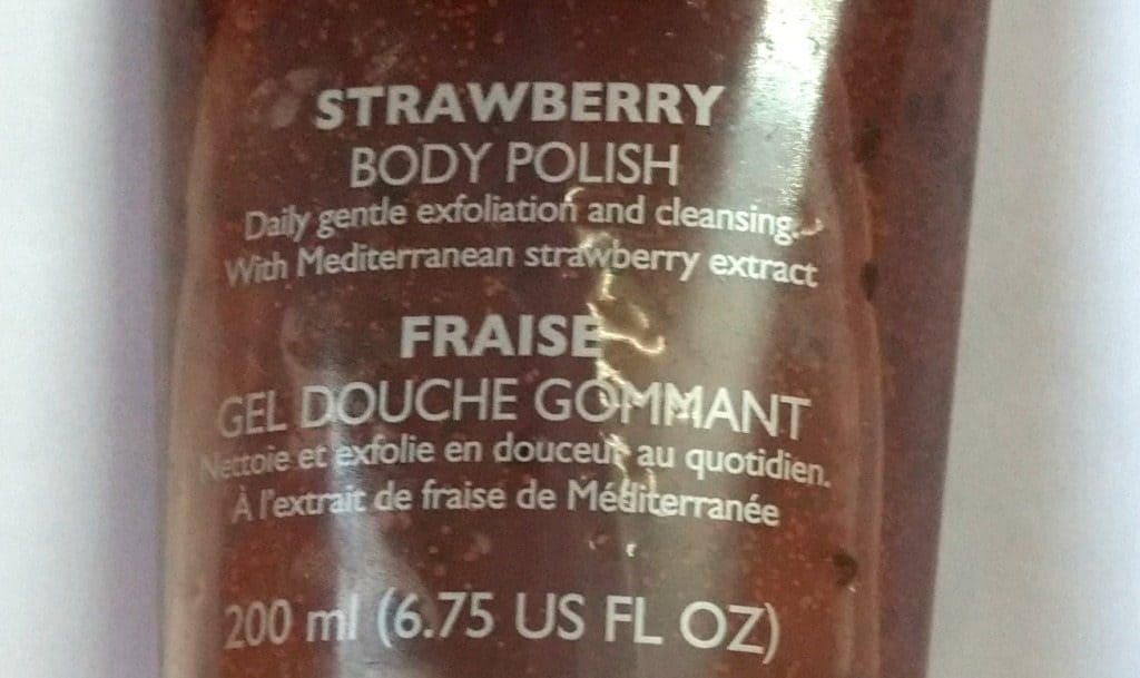 The Body Shop Strawberry Body Polish Review 2