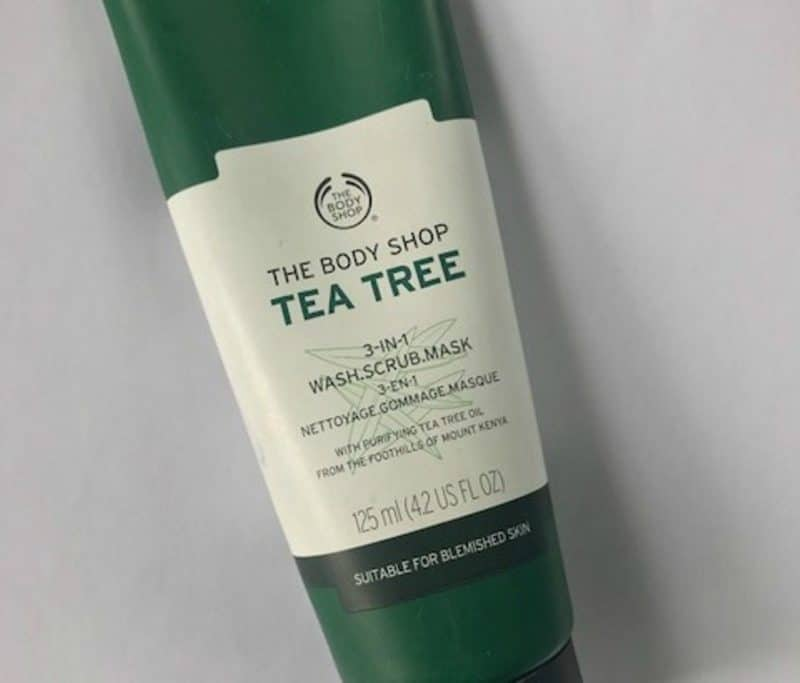 tea tree face mask the body shop review