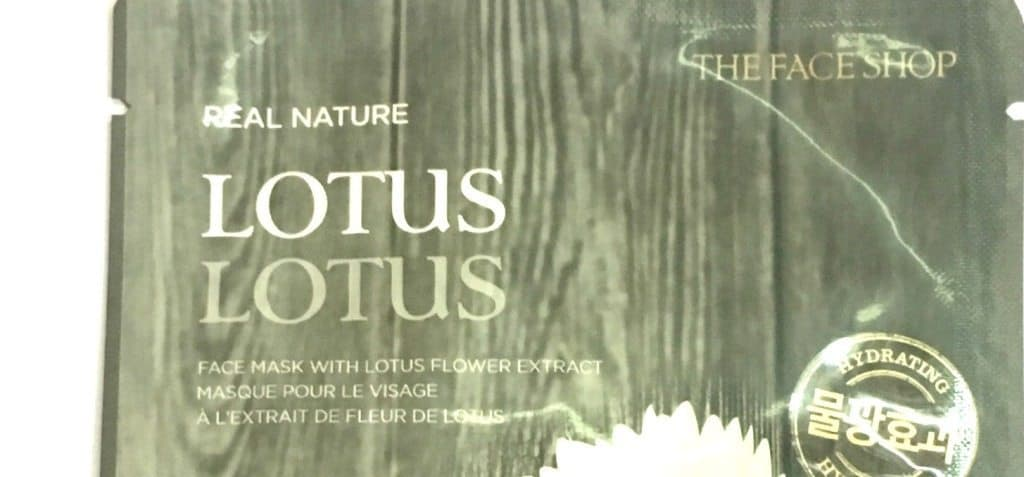 The Face Shop Real Nature Lotus Sheet Mask Review 2