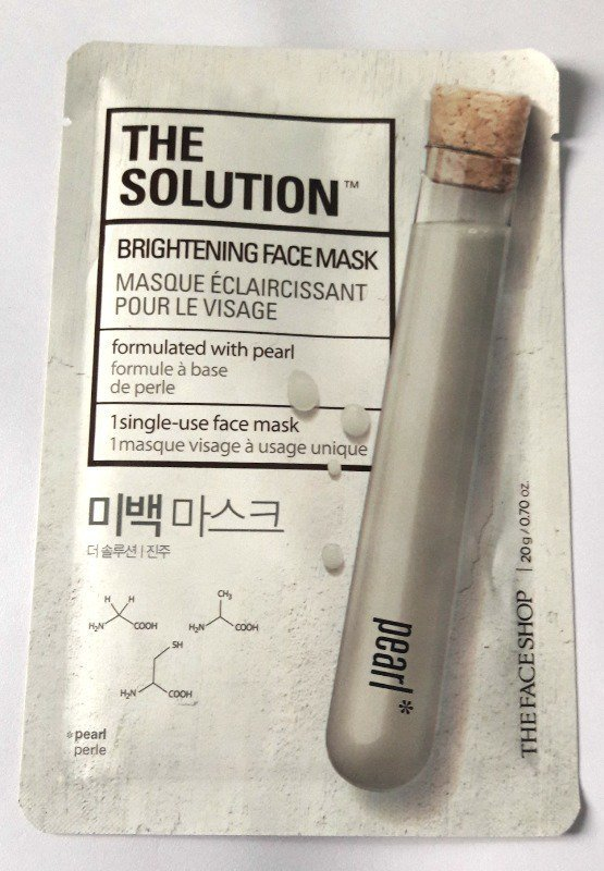 The Face Shop The Solution Brightening Face Mask