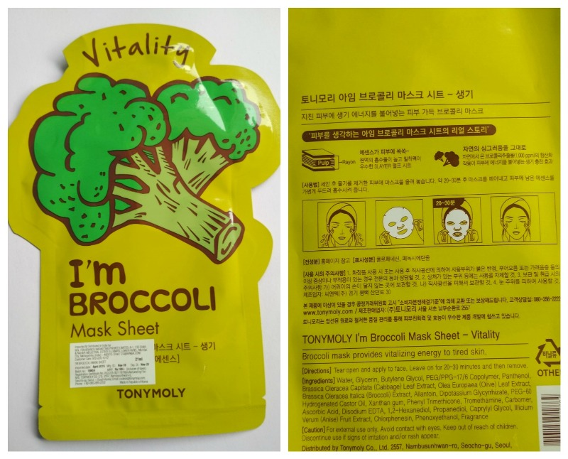 Tonymoly I'm Broccoli Mask Sheet