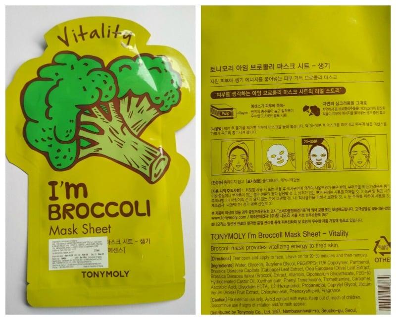 Tonymoly I'm Broccoli Mask Sheet