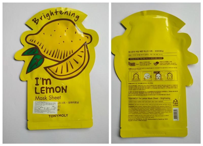 Tonymoly I'm Lemon Mask Sheet Review