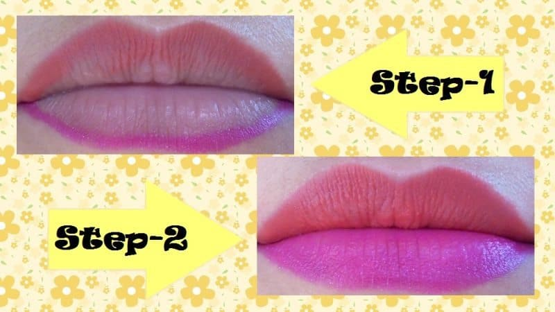 Two Toned Lips Step by Step Tutorial