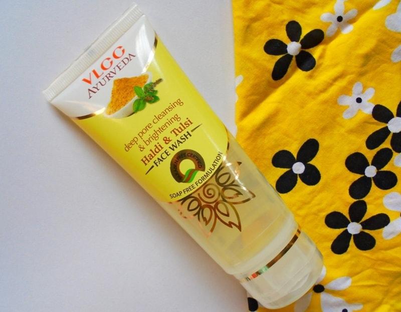 VLCC Ayurveda Deep Pore Cleansing & Brightening Haldi & Tulsi Face Wash Review 1
