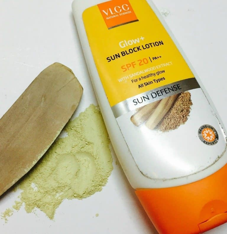 VLCC Glow Plus Sunblock Lotion SPF 20 Review