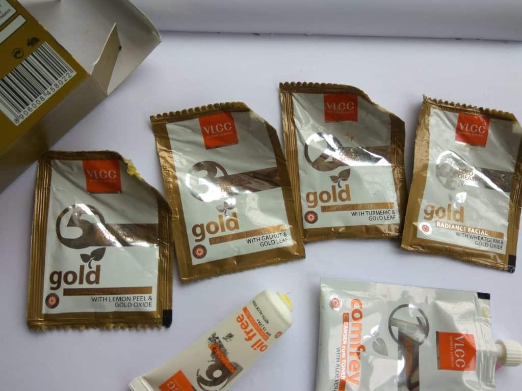 VLCC Gold Facial Kit Review 3