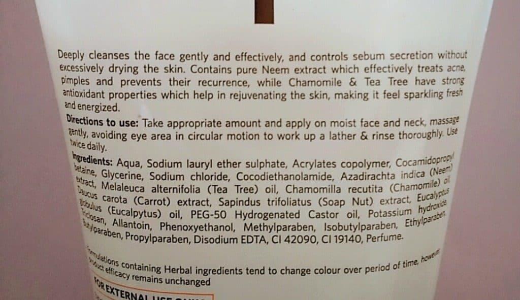 VLCC Neem Face Wash 3