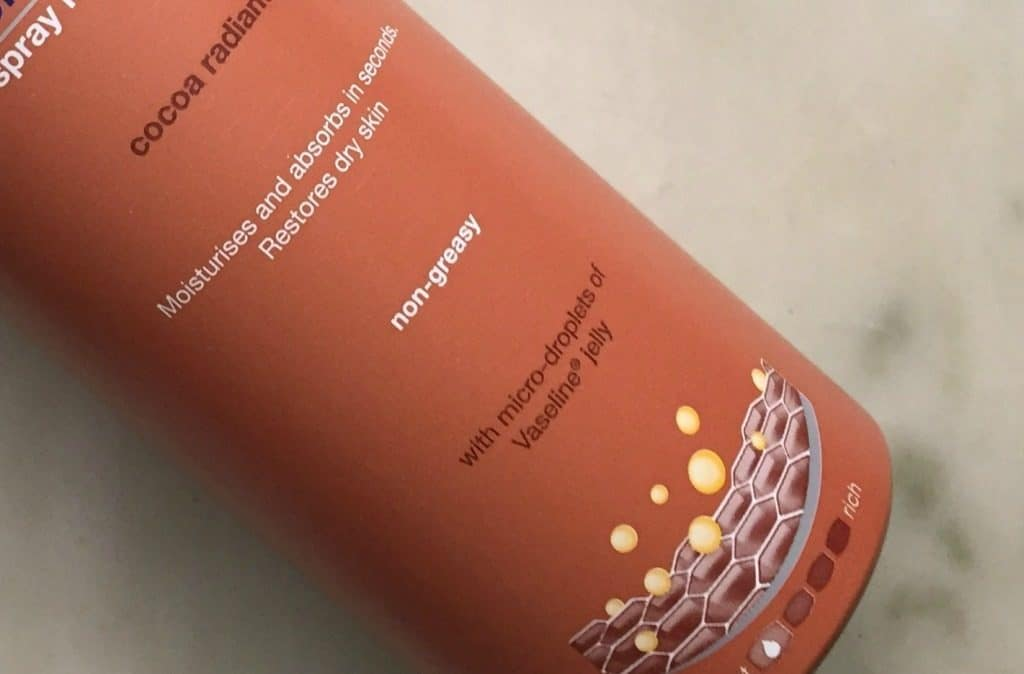 Vaseline Intensive Care Cocoa Radiant Spray Moisturizer Review 3
