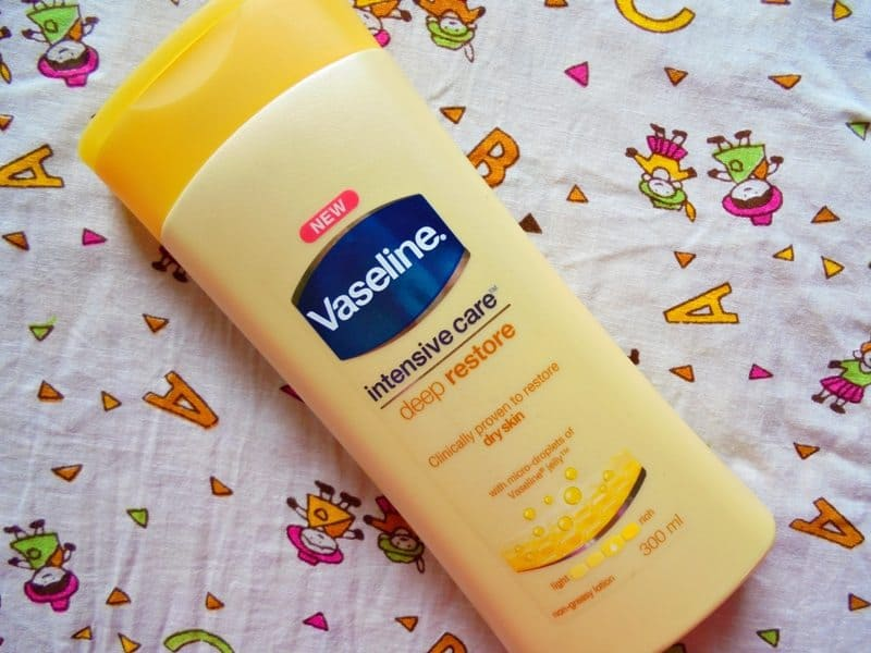 Vaseline Intensive Care Deep Restore Non-greasy Lotion Review