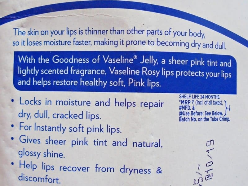 Vaseline Lip Care Rosy Lips Review 2