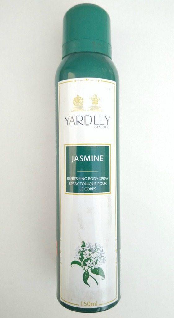 Yardley London Jasmine Refreshing Body Spray Review 2