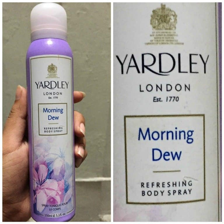 Yardley London Morning Dew Refreshing Body Spray Review 5