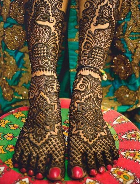 # Full Feet Peacock Mehendi for the Brides