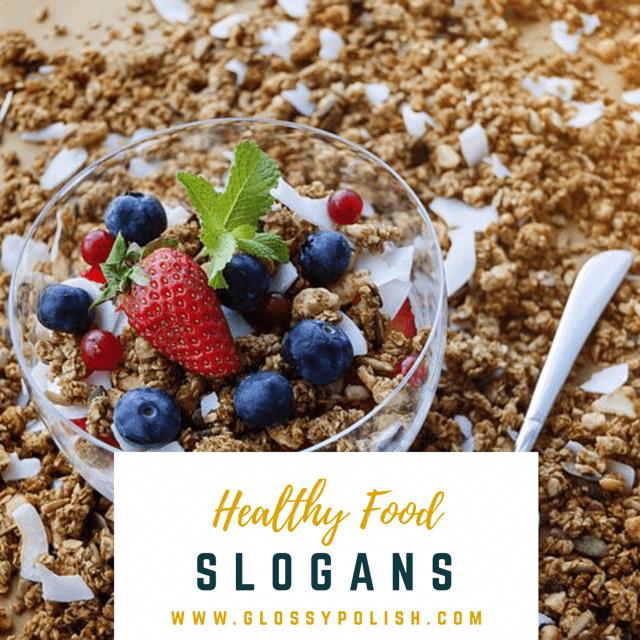 healthy food slogans