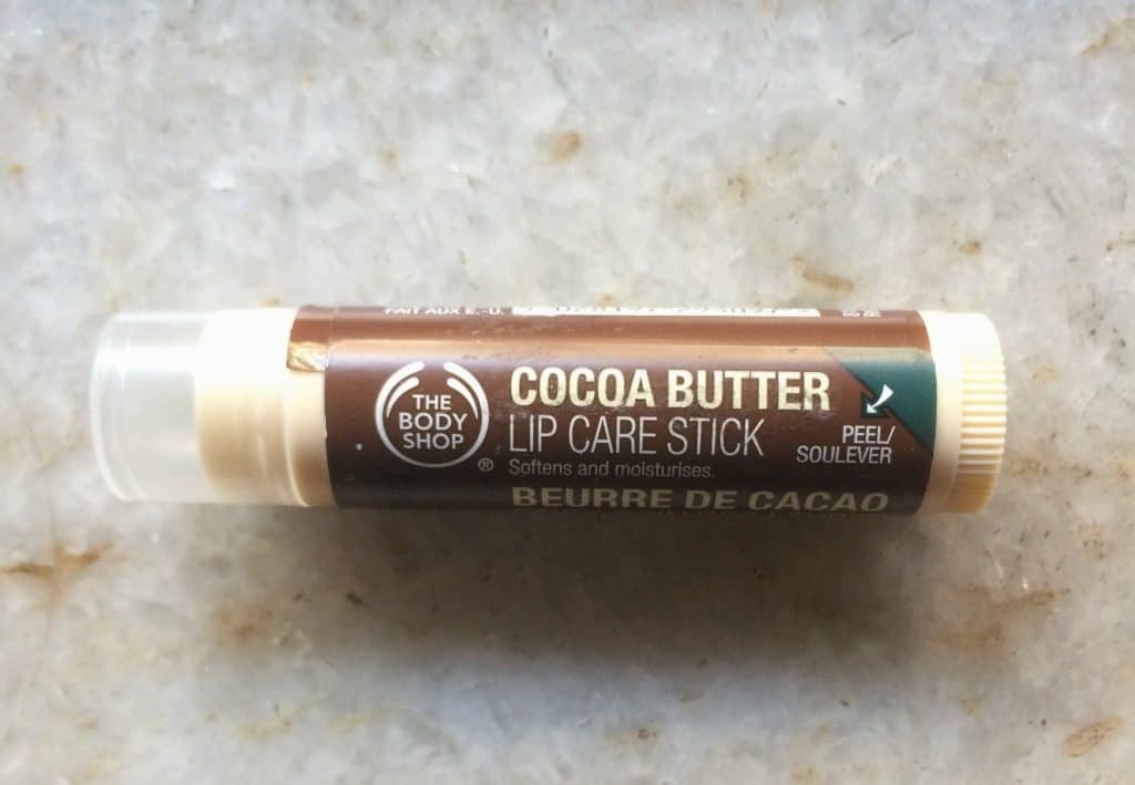 The Body Shop Cocoa Butter Lip Care Stick Review , body shop chapstick