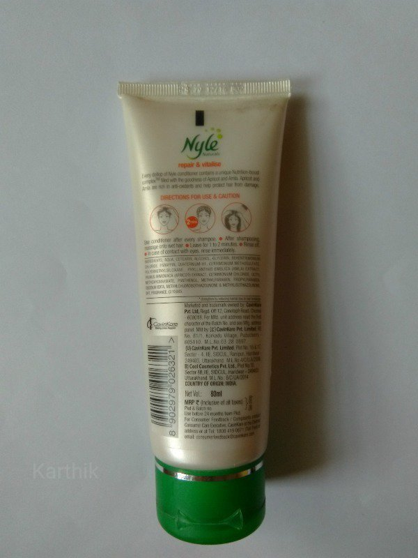 the Nyle Conditioner- Repair and Vitalise Conditioner 1